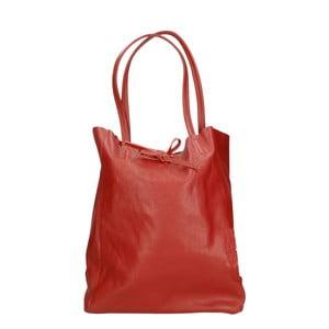 Červená kožená kabelka Roberto Buono Vetta