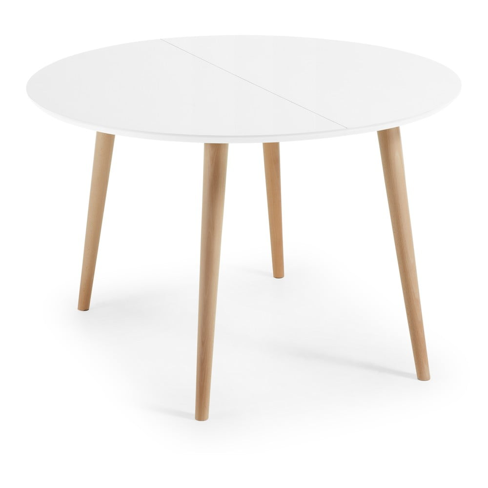 Rozkladací jedálenský stôl La Forma Oakland, ⌀ 120 cm
