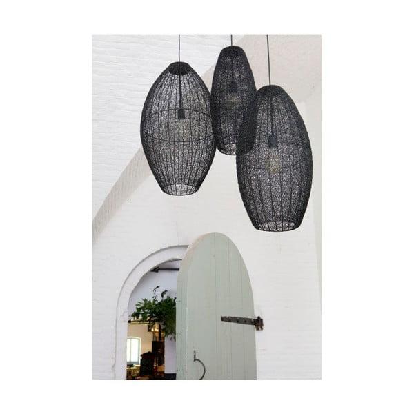 Čierne závesné svietidlo BePureHome Creative, Ø40cm