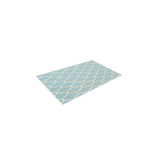 Vlnený koberec Kilim Venus Light Blue, 155x240 cm