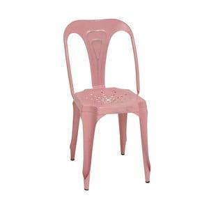 Kovová retro stolička Sofian, ružová