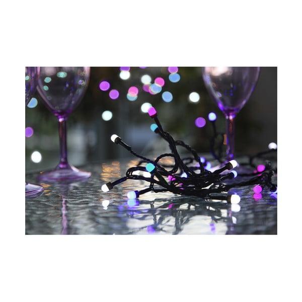 Vonkajšia svetelná party LED reťaz Best Season Blue Lila, 42 svetielok