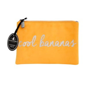 Žltá dámska listová kabelka Statement Pieces Cool Bananas 24 x 17 cm