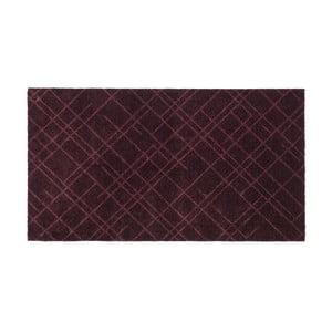 Tmavovínová rohožka Tica Copenhagen Lines, 67 x 120 cm