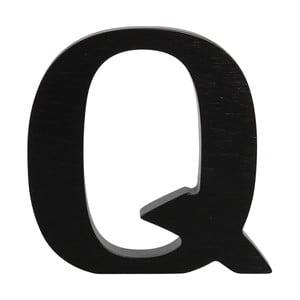 Čierne drevené písmeno Typoland Q