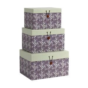 Set 3 krabíc Diamond Purple