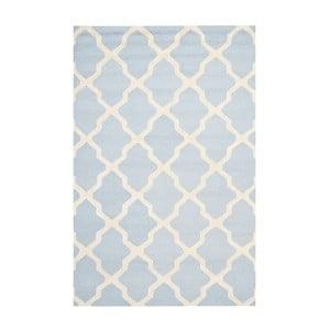 Vlnený koberec Ava Baby Blue, 182x274 cm