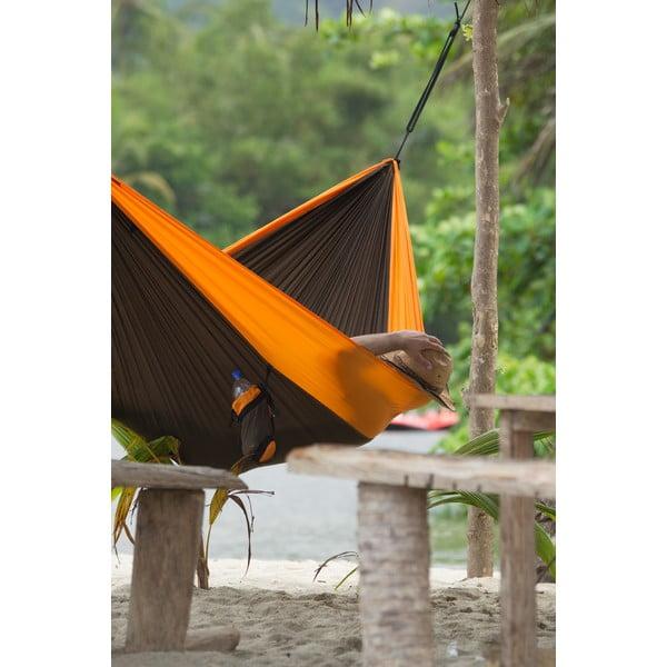 Cestovný závesný vak až pre dvoch Colibri, čierny/oranžový