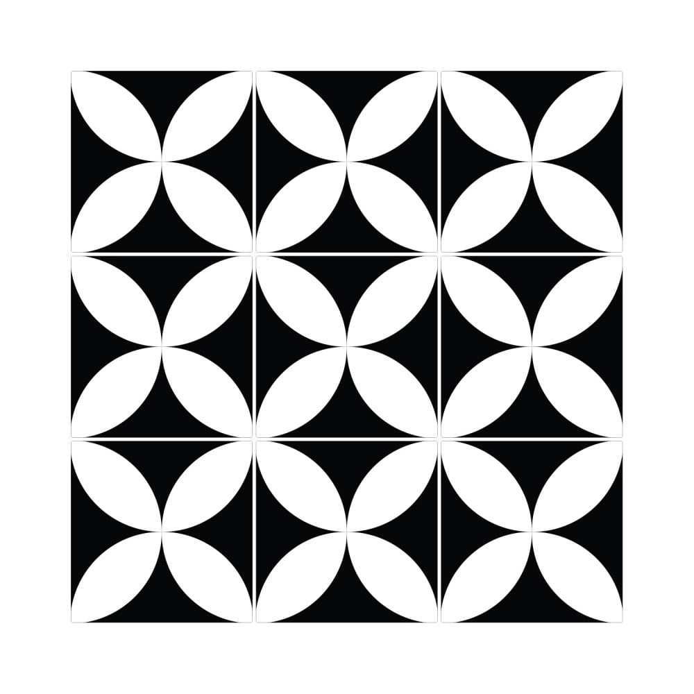Sada 9 nástenných samolepiek Ambiance Wall Decal Tiles Enzo, 10 × 10 cm