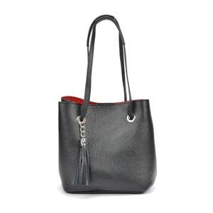 Čierna kožená kabelka Mangotti Hargada