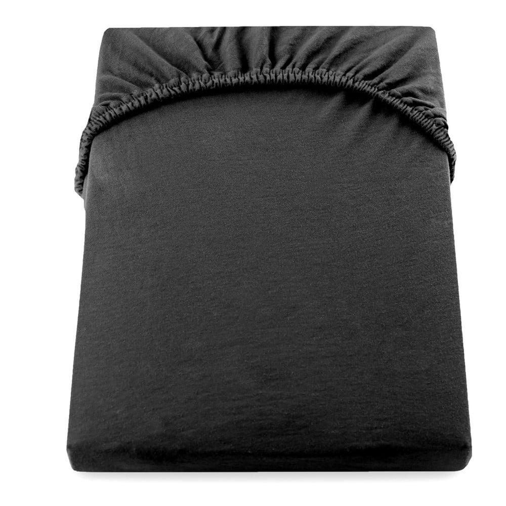 Čierna plachta DecoKing Amber Collection, 140-160 × 200 cm