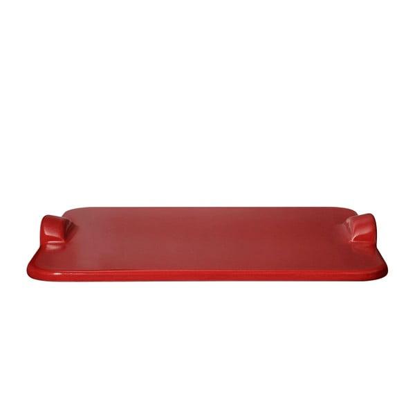 Podnos na pizzu Emile Henry 30x34 cm, červený