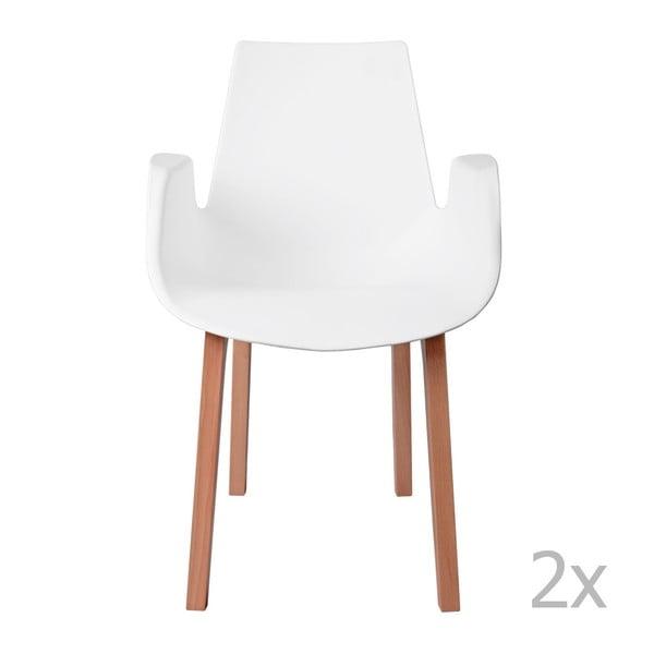 Sada 2 stoličiek D2 Mokka, biele