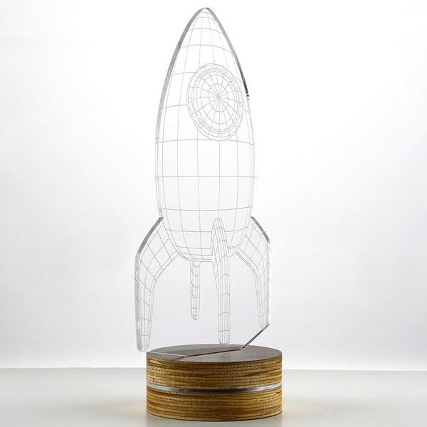 3D stolová lampa Rocket
