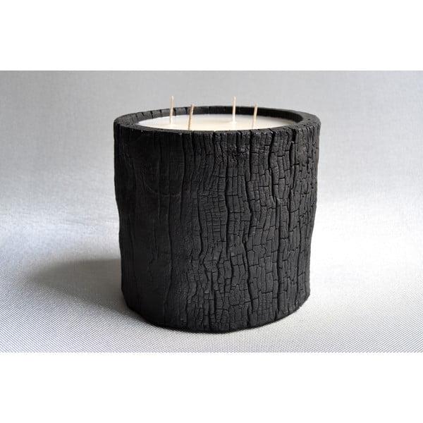 Palmová sviečka Legno Wood s vôňou vanilky a pačuli, 120 hodín horenia