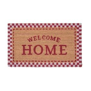 Rohožka s detailami v červenej farbe Clayre & Eef Doormat, 75 x 45 cm