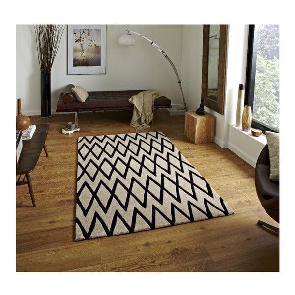 Koberec Flat, 120x170 cm, čierny