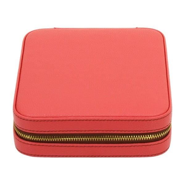 Puzdro na šperky Ascot Zip Coral Pink