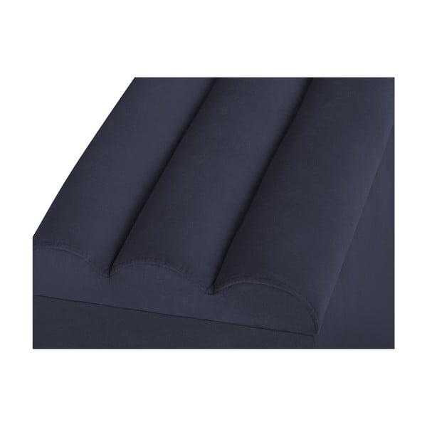 Tmavomodrý otoman s úložným priestorom Cosmopolitan Design LA, 180 x 47 cm