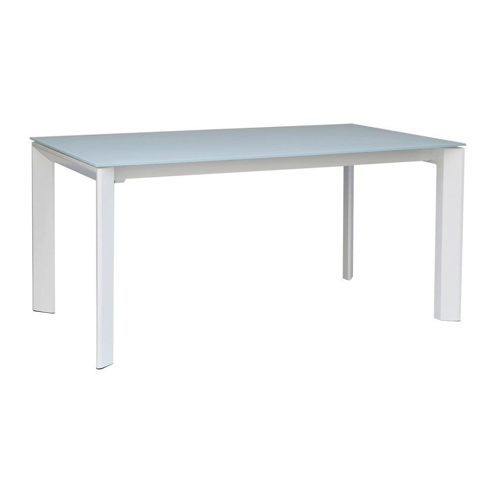 Biely rozkladací jedálenský stôl sømcasa Tamara, 160 × 90 cm