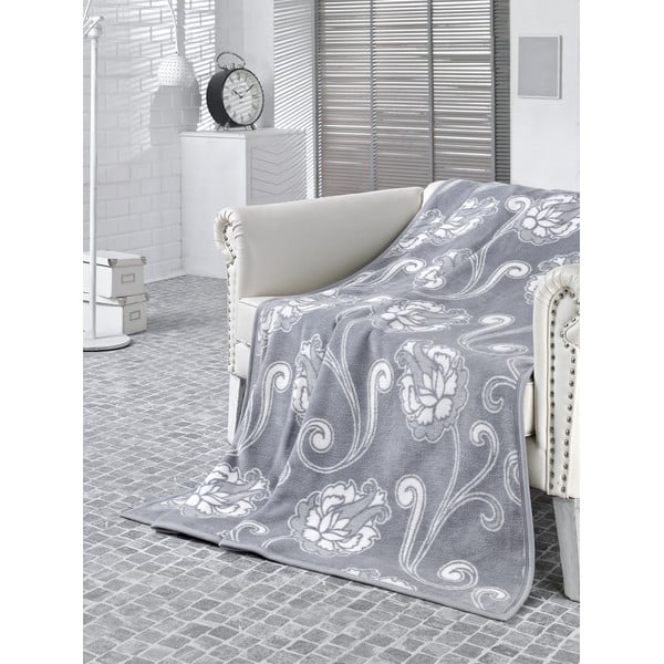 Deka Floral Grey, 150x200 cm