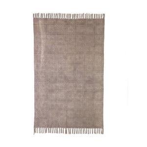 Béžový bavlnený koberec Oreste Luchettas Yantra, 195 × 115 cm