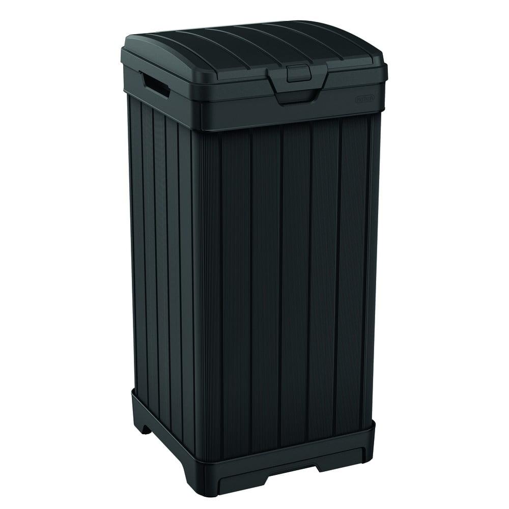 Čierny záhradný odpadkový kôš na kolieskach Keter, 125 l