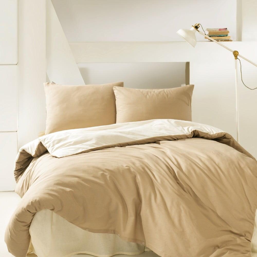 Bavlnené obliečky na jednolôžko Suzy Camel, 160 × 220 cm
