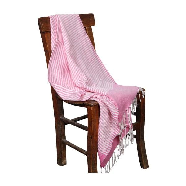 Hammam osuška Hermes Pink, 90x190cm