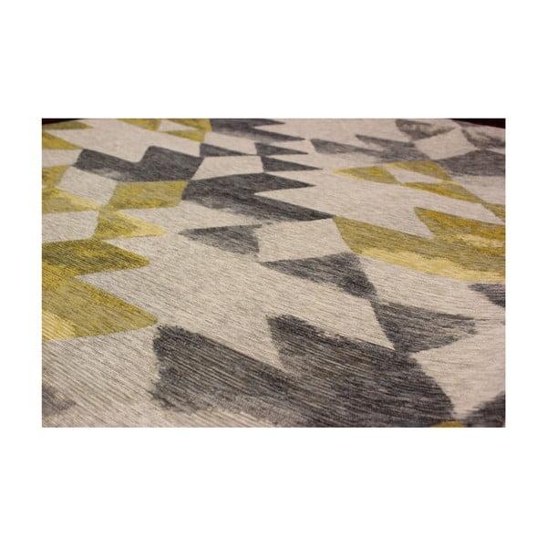 Koberec Eko Rugs Susler Grey/Yellow,135x200cm