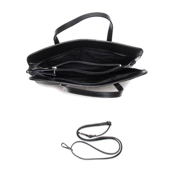 Kožená kabelka Isabella Rhea 398 Nero