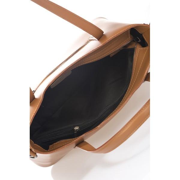 Kožená kabelka Markese 2418 Cognac