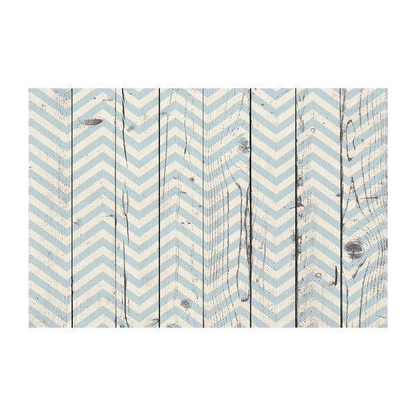 Vinylový koberec Chevron Azul Madera, 100x150 cm