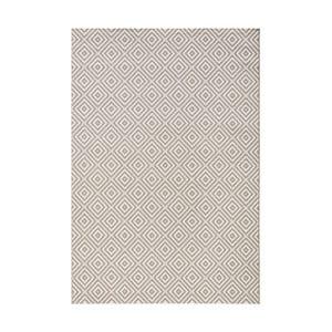 Sivý koberec vhodný aj do e×teriéru Karo, 140×200 cm