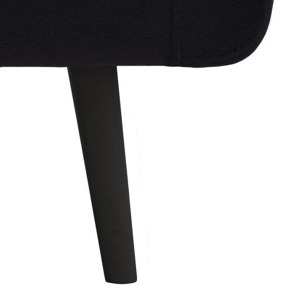 Tmavosivé kreslo VIVONITA Sondero, čierne nohy