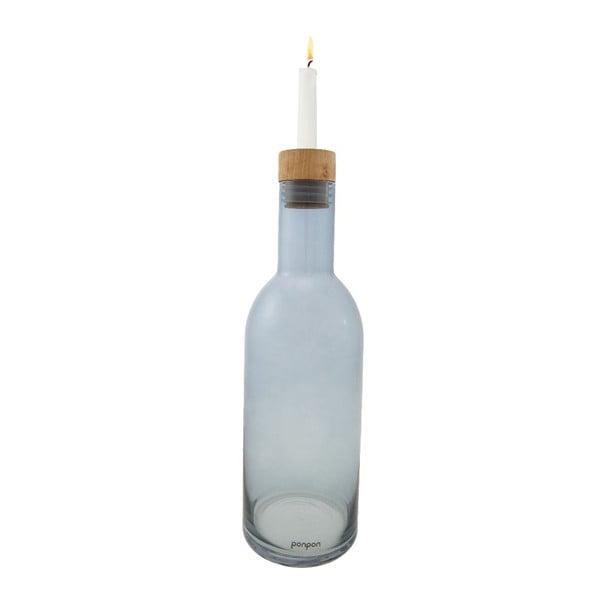 Váza/svietnik Bottle 36,8 cm, modrá