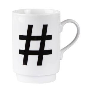 Porcelánový písmenkový hrnček KJ Collection Hashtag