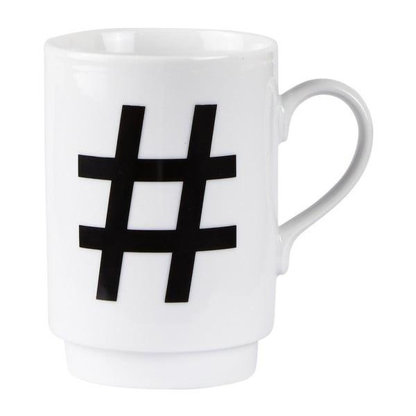 Porcelánový písmenkový hrnček Hashtag