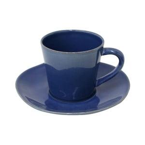 Modrá kameninová šálka na čaj s tanierikom Costa Nova Denim, 190 ml