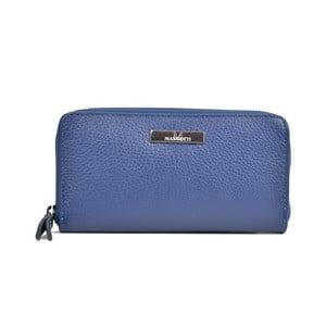 Modrá kožená peňaženka Mangotti Bags Flora