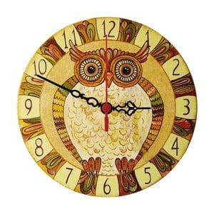 Nástenné hodiny Natural Owl, 30 cm