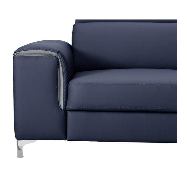 Modrá pohovka Modernist Serafino, ľavý roh