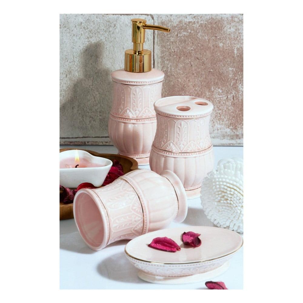Set ružových kúpeľňových doplnkov Orient