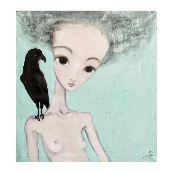 Autorský plagát od Lény Brauner Na vážkách, 56x60 cm