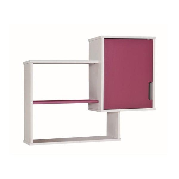 Ružovo-biela nástenná knižnica 13Casa UP