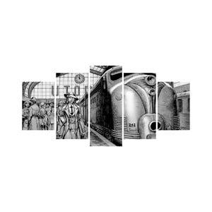 Viacdielny obraz Black&White no. 3, 100x50 cm