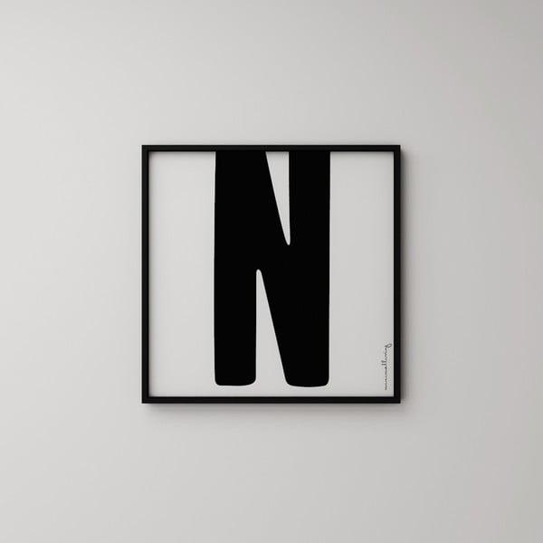 Plagát Litera N, 50x50 cm