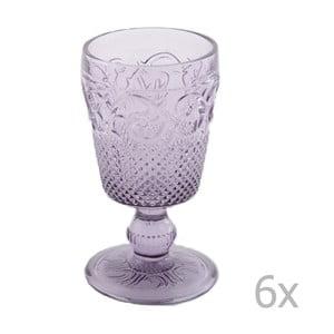 Sada 6 fialových pohárov Creative Tops Katie Alice Embossed