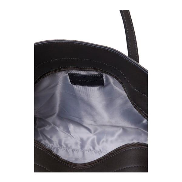 Kožená kabelka cez rameno Marta Ponti Zippy, béžová/sivá