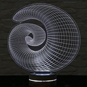 3D stolová lampa Shell